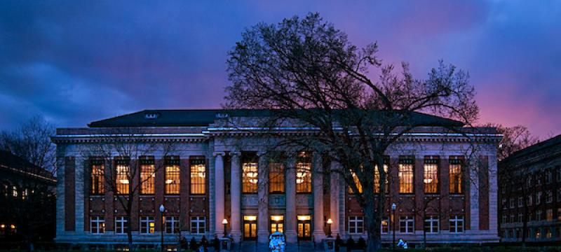 Walter Library Sunset