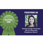 Persephone Ma, 3-Minute thesis competition winnter banner